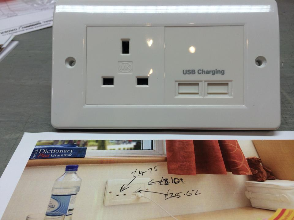 Brighter Electrical - Combined Power and USB Charging